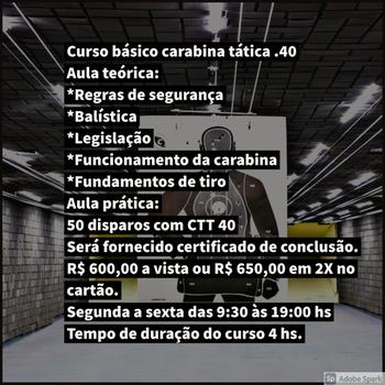 Curso para atirador esportivo no Jaçanã